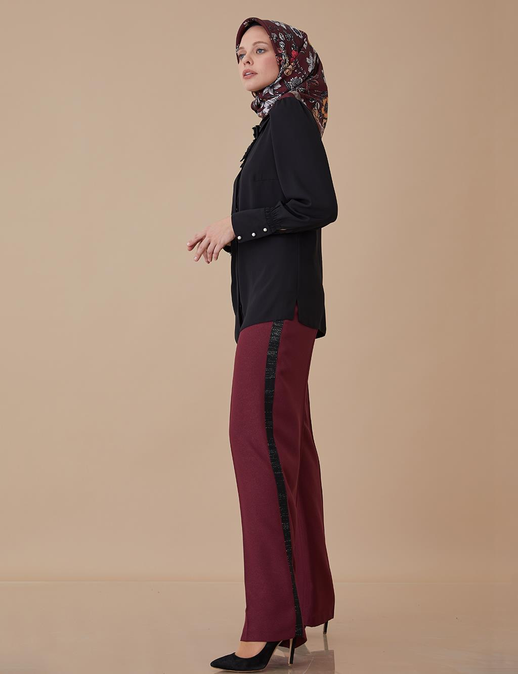 Striped Wide Leg Pants A8 19028
