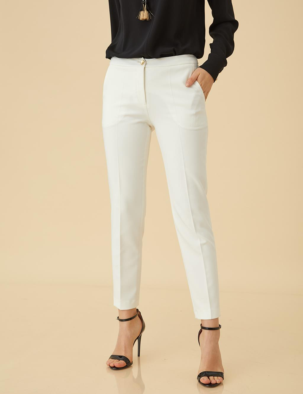 Basic Tight Pants SZ-19501 Ecru