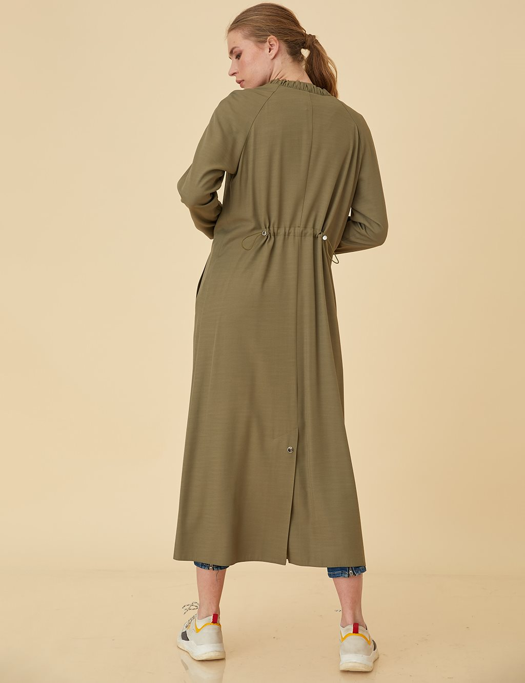 Overcoat with Snap B9-14059 Khaki