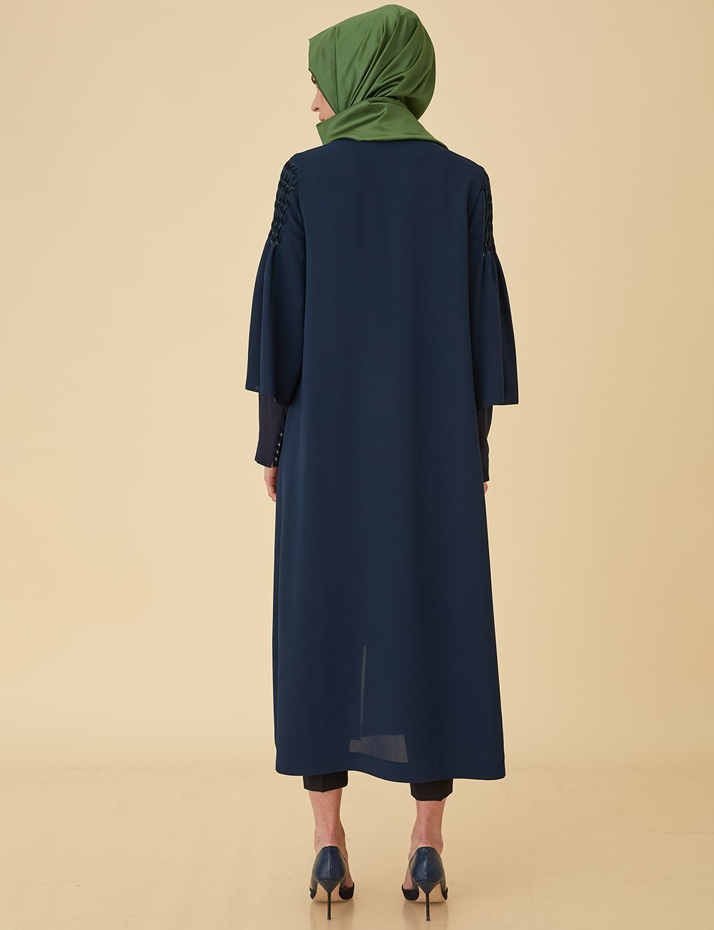 Loose Cut Abaya B9-25059 Navy