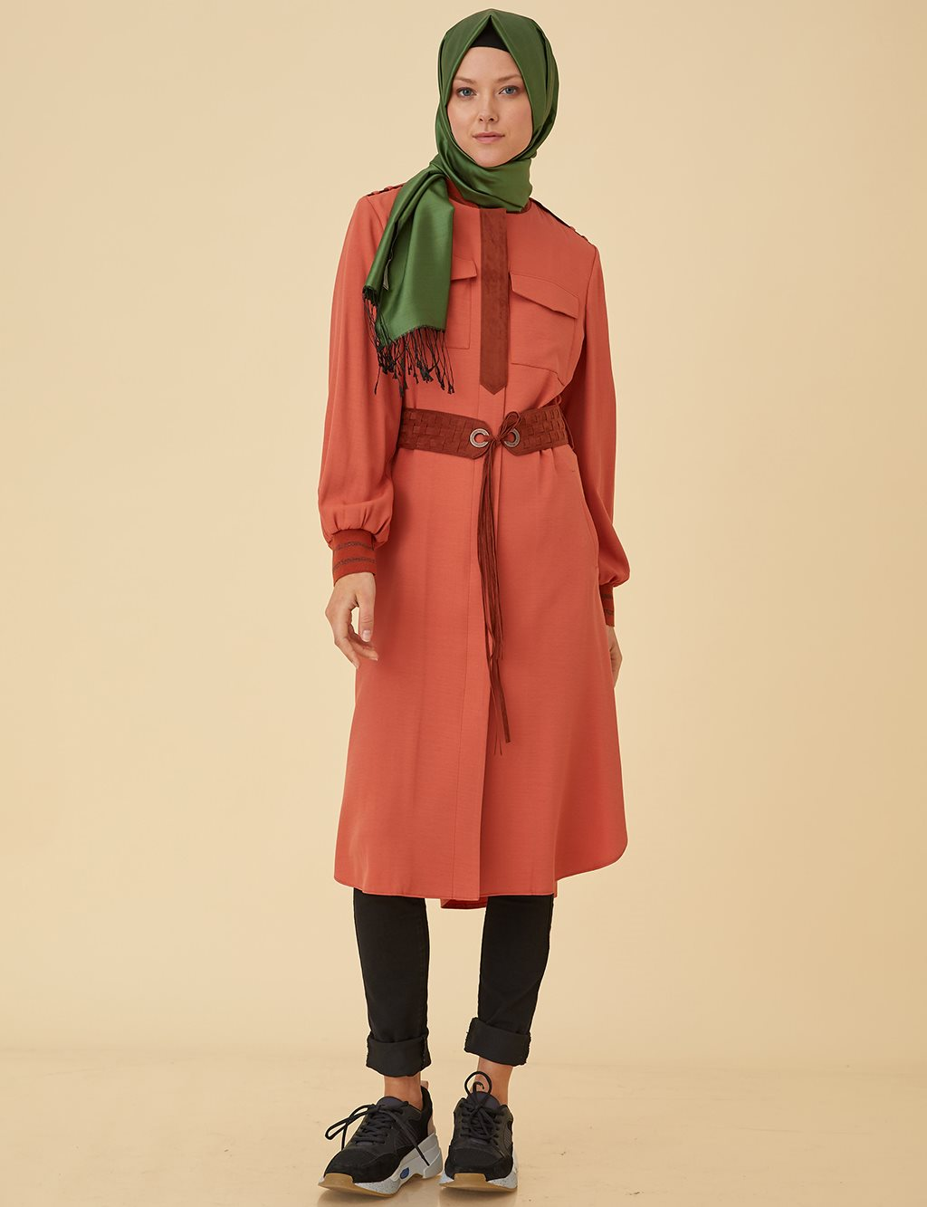 Trenchcoat with Belt B9-25096 Tile