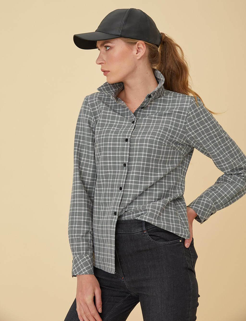 Checked Shirt B9-71004A Black