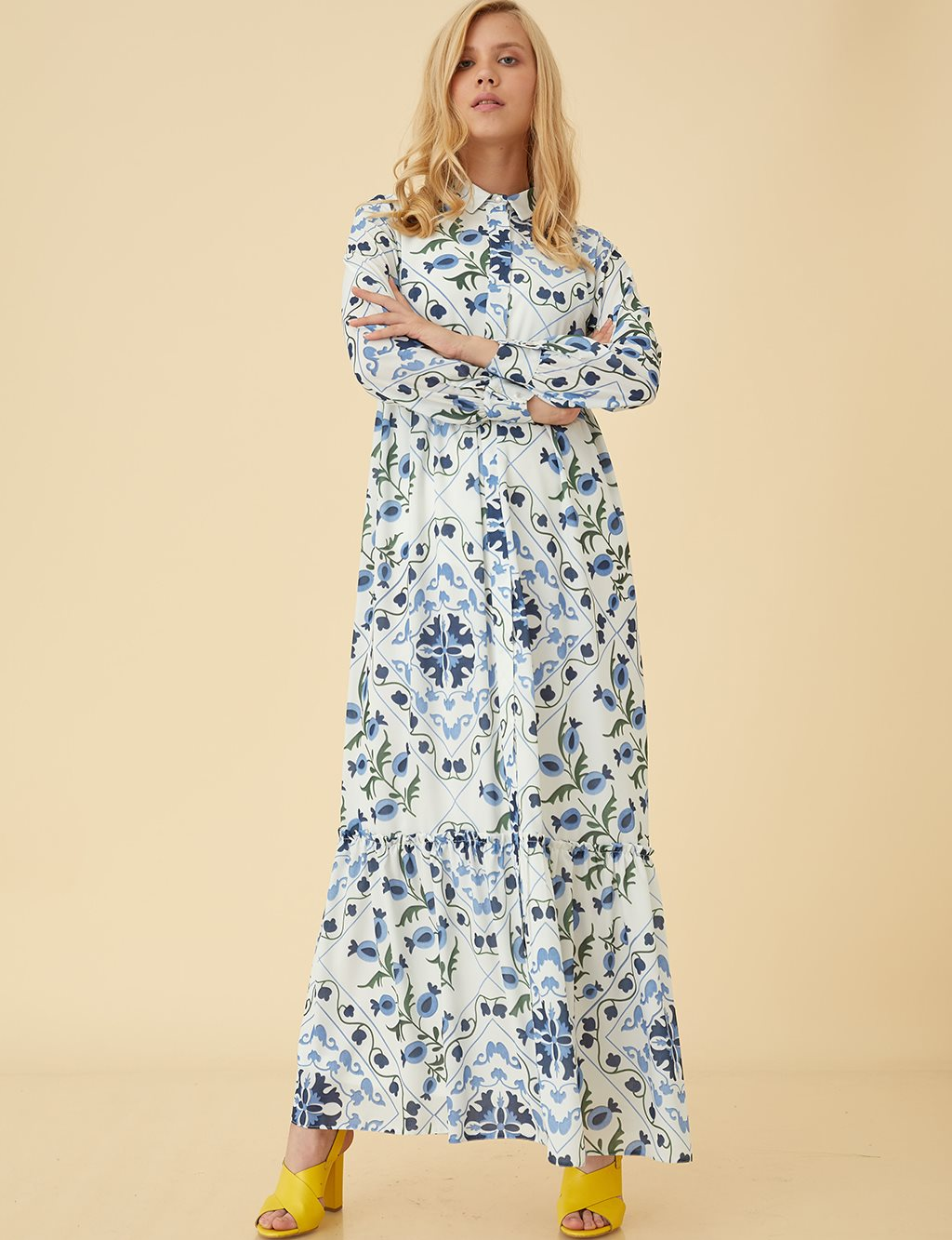 KYR Floral Maxi Dress B9 83004 Blue