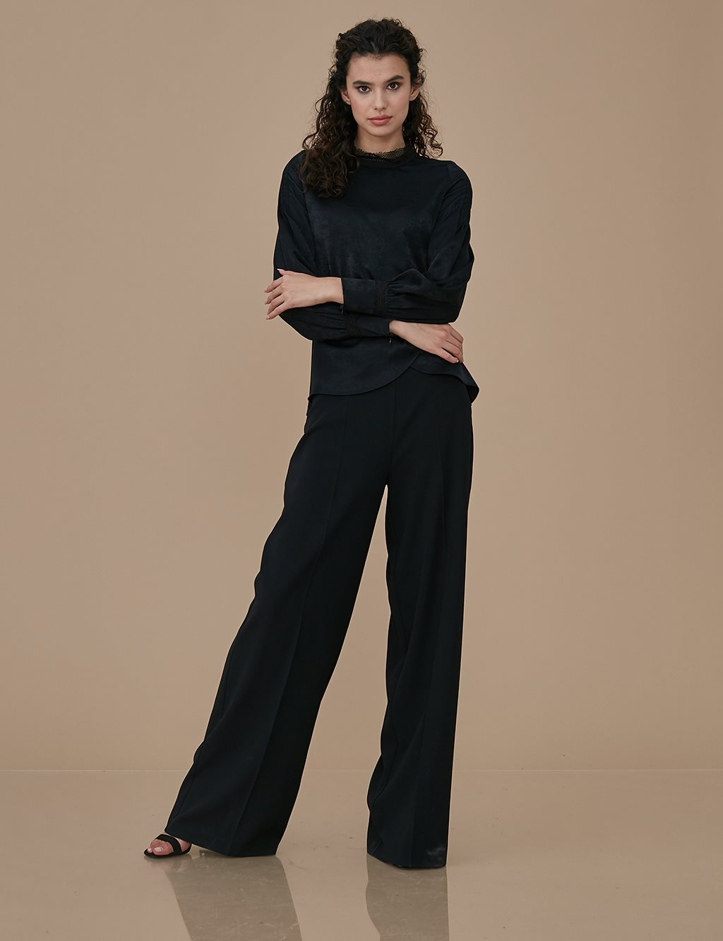Wide Leg Pants A9 19025 Black