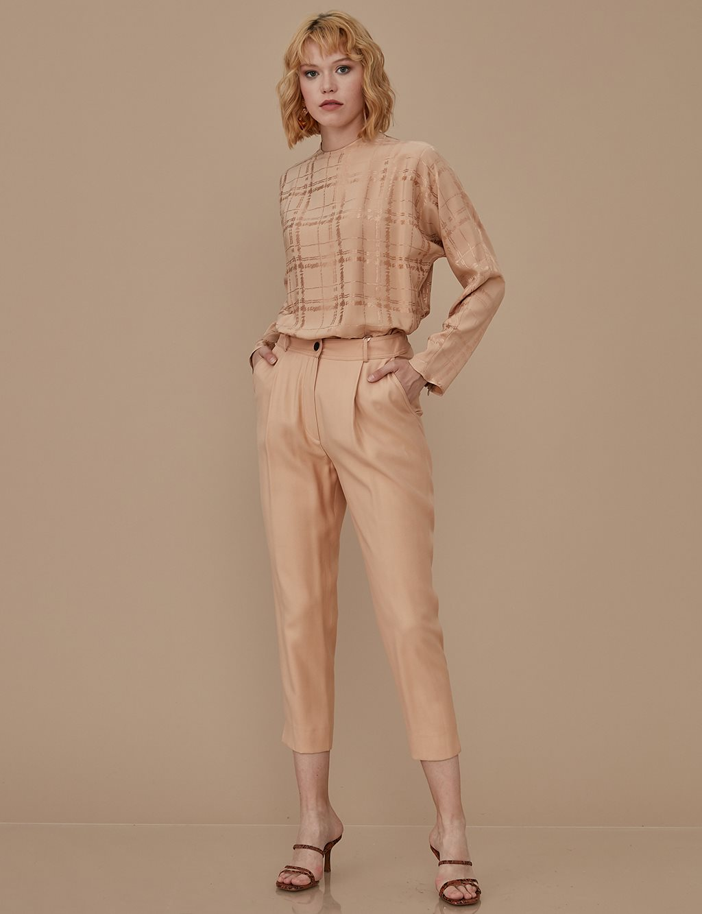 Casual Pants A9 19074 Beige