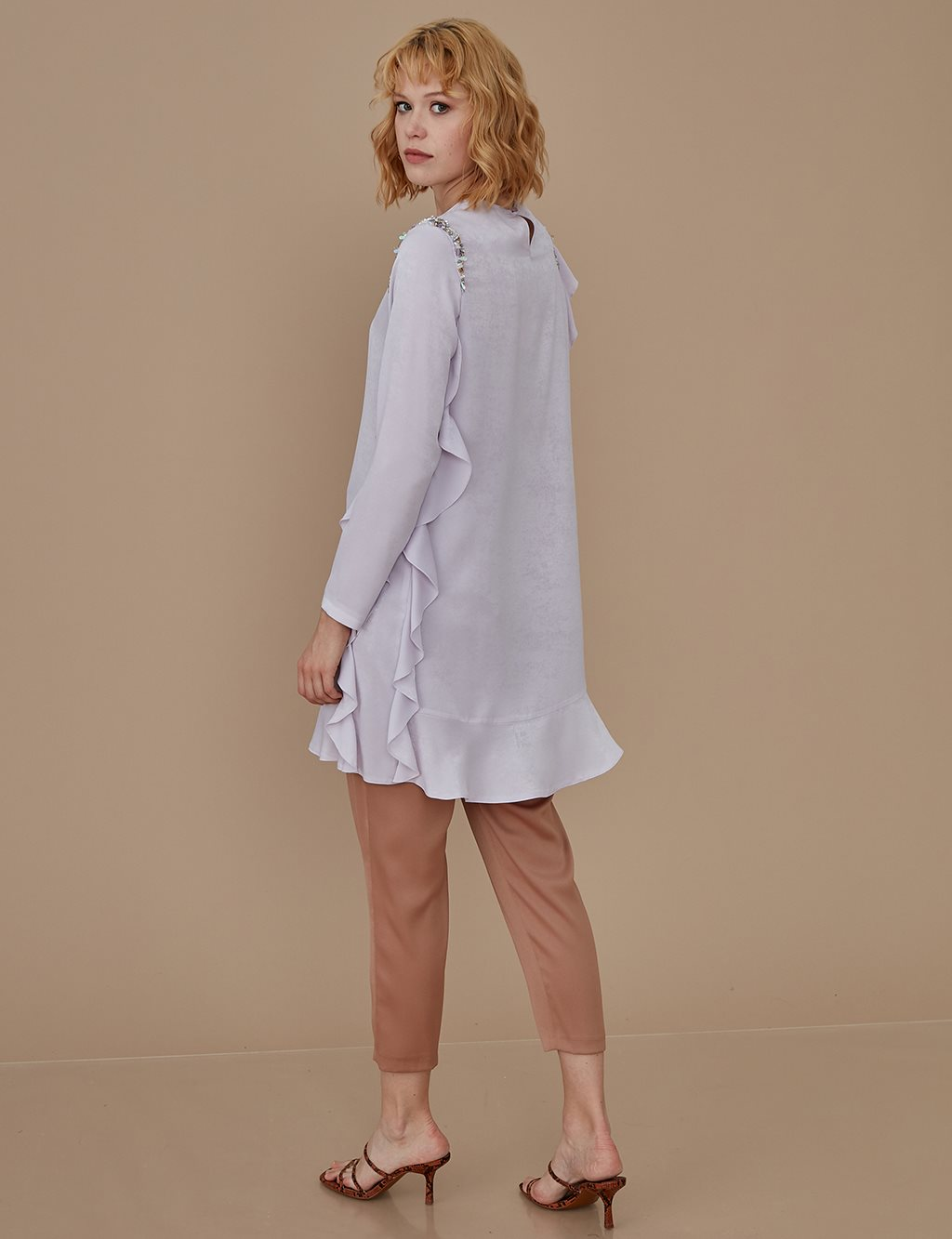 Ruffled Tunic A9 21097 Lilac