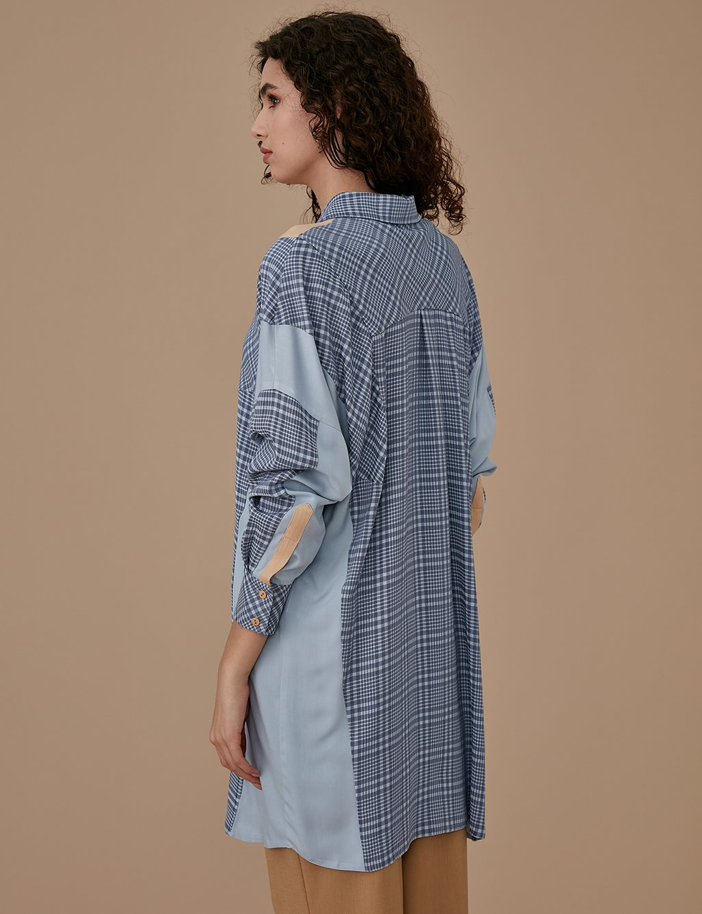 Plaid Tunic A9 21124 Grey