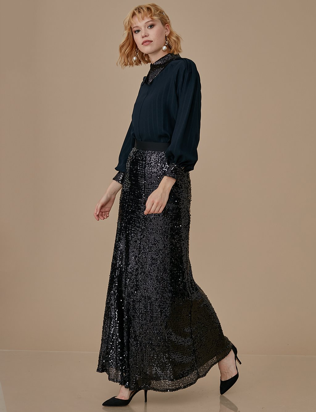 Skirt With Sequin A9 12016 Black