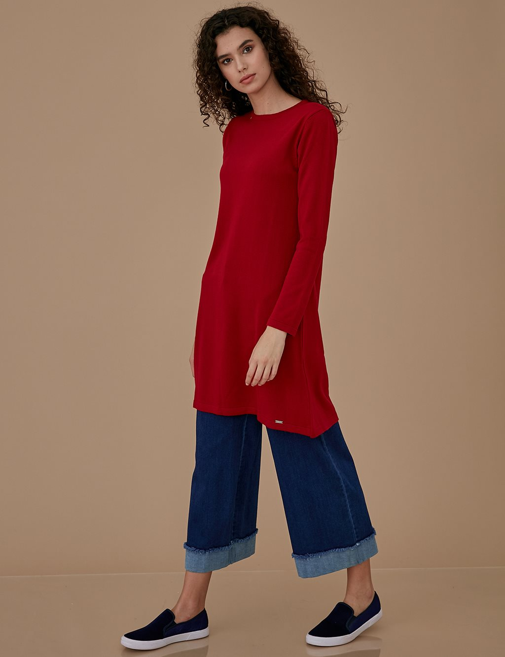 Crew Neck Basic Knitwear A9 TRK41 Red