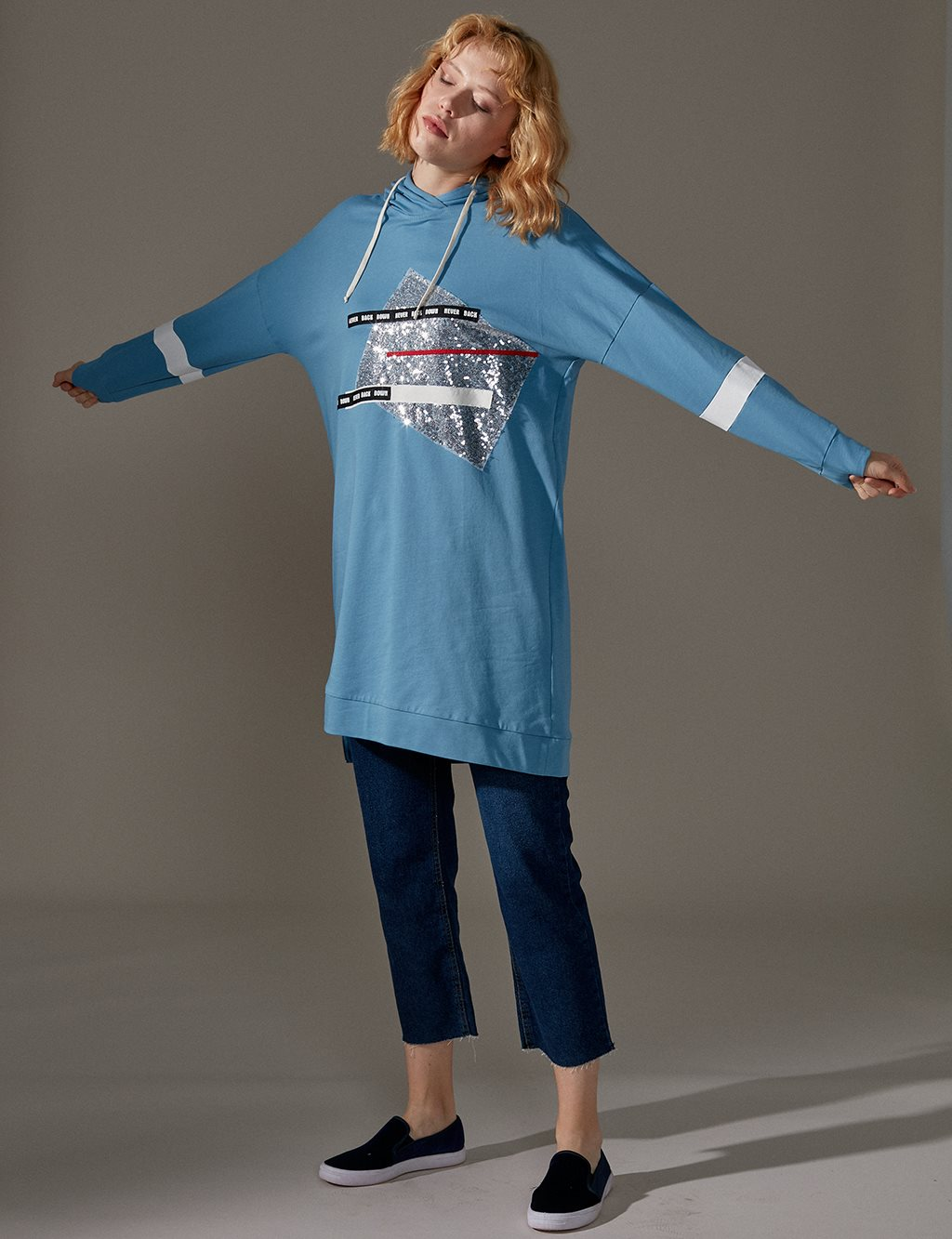 KYR Printed Sweatshirt A9 81022 Navy Blue