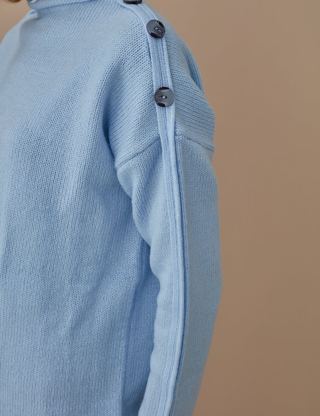 Knitwear With Button Detail A9 TRK17 Blue
