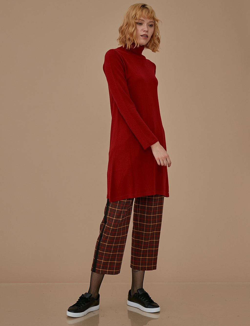 Knitwear Basic Tunic A9 TRK40 Red