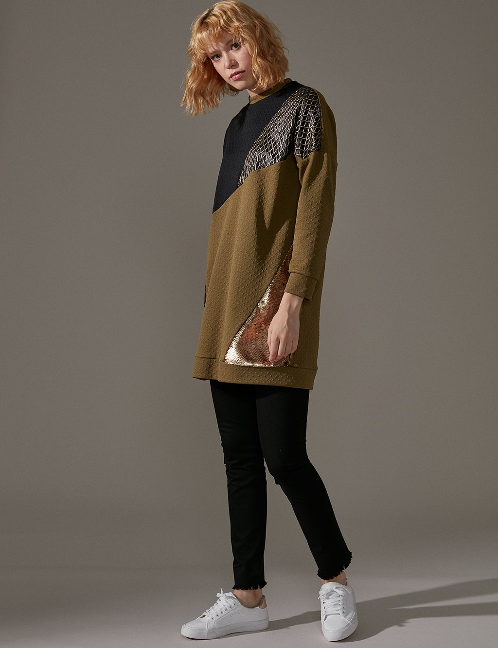 KYR Tunic With Sequin A9 81007 Khaki