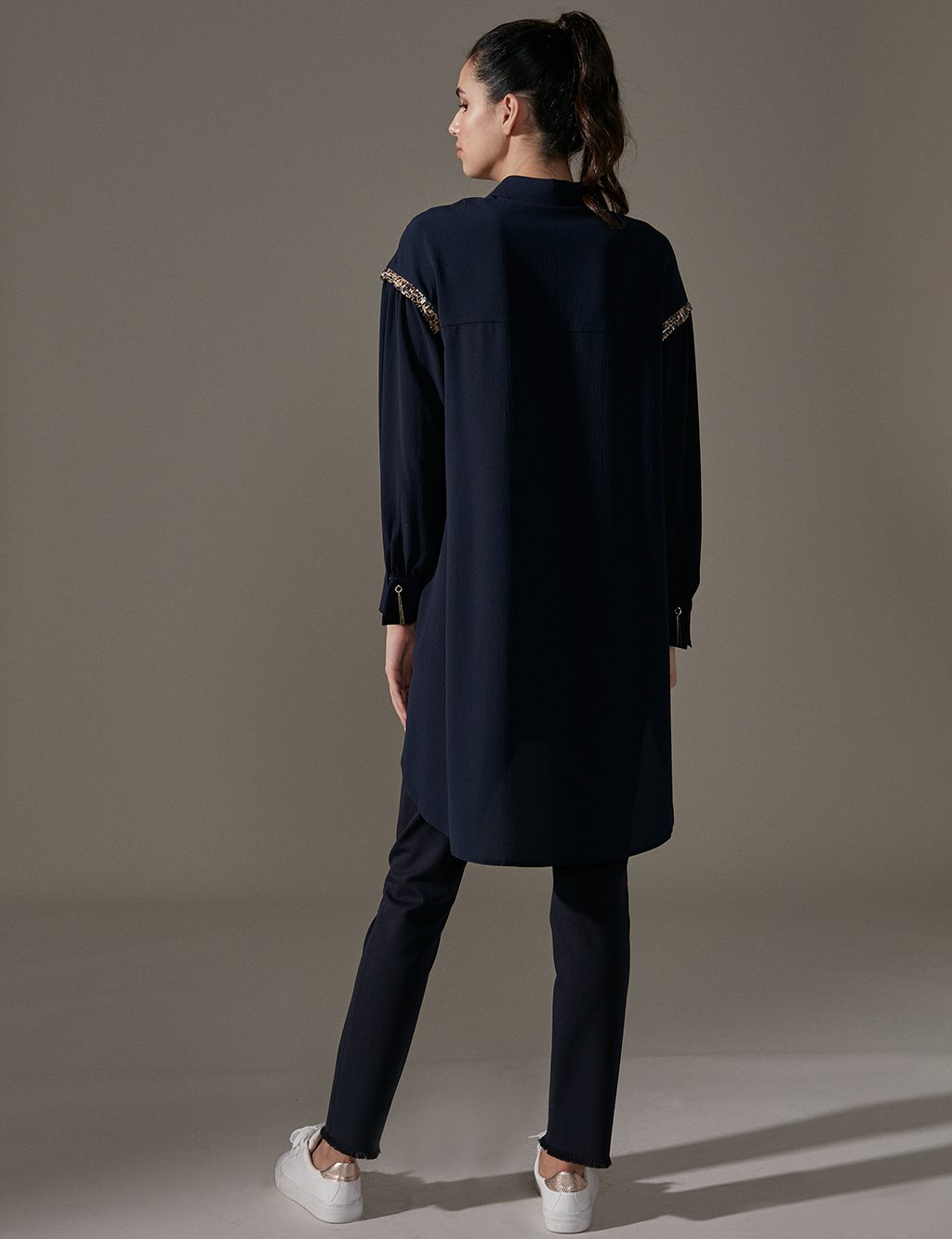KYR Tunic With Sequin Detail A9 81044 Navy
