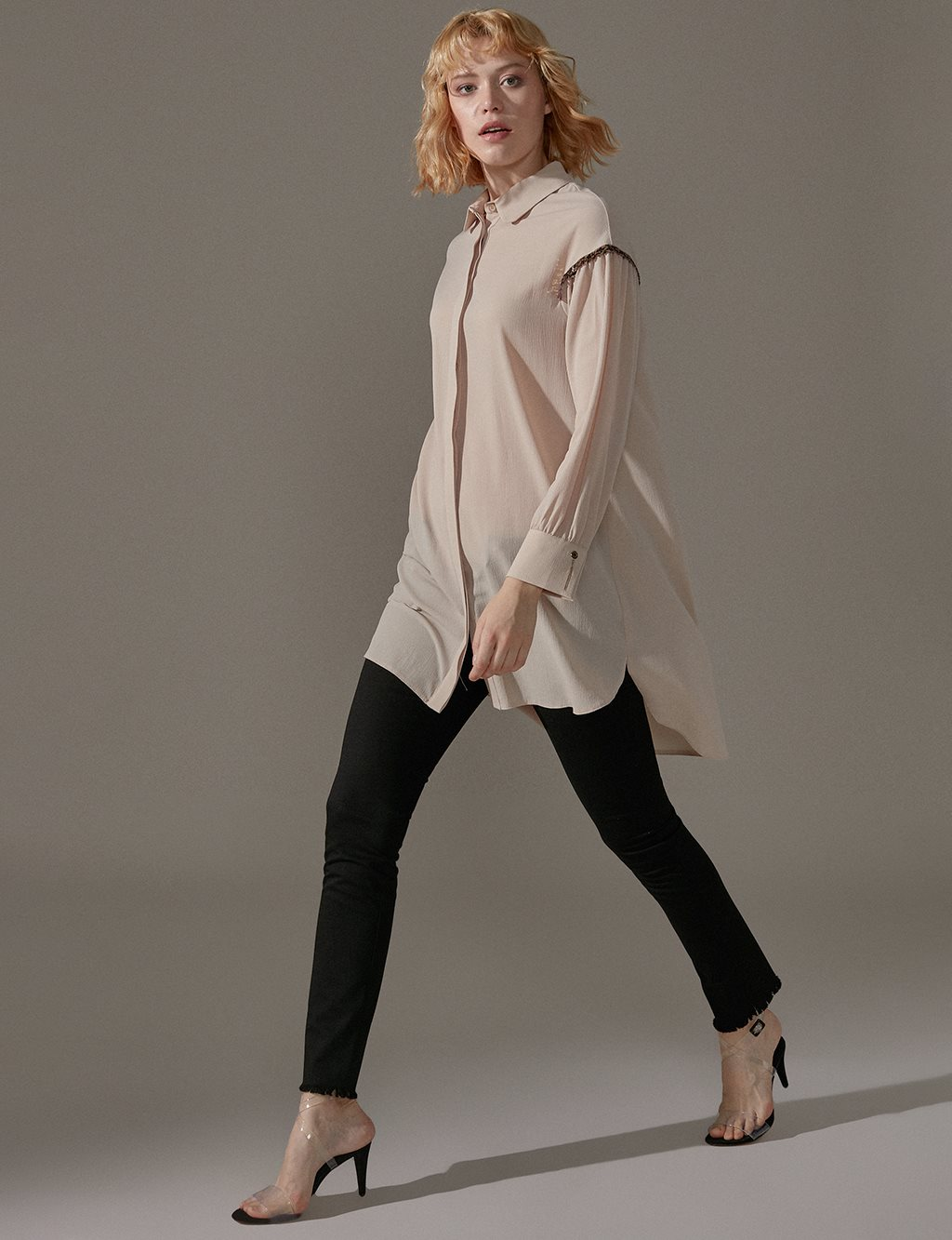 KYR Tunic With Sequin Detail A9 81044 Beige