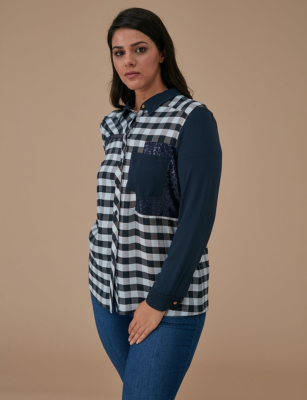 Checkered Shirt A9 10056 Blue