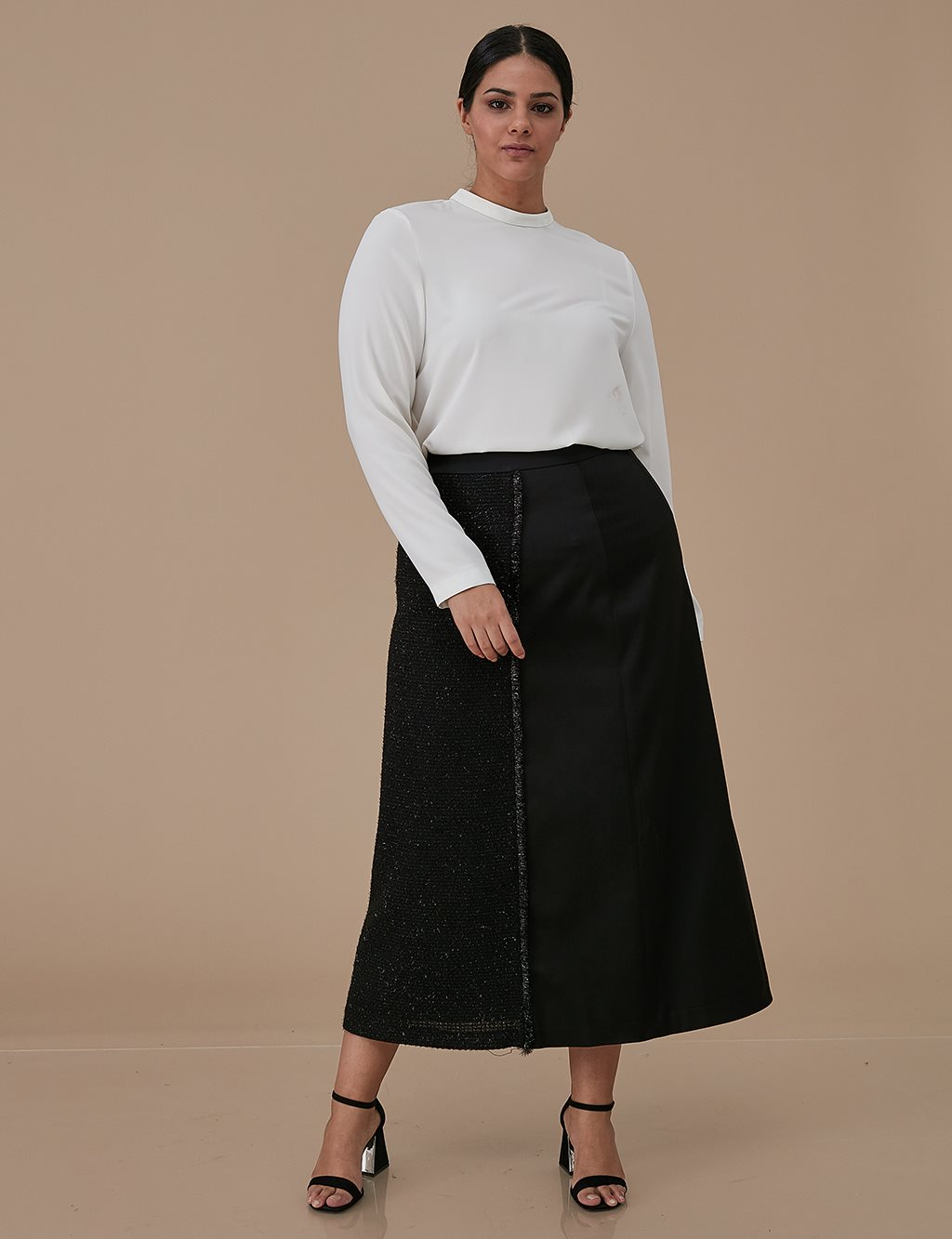 Tweed Skirt A9 12020 Black