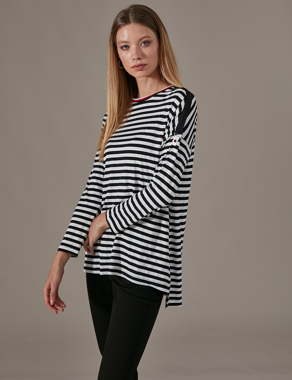 KYR Striped Tunic A9 81055 Black
