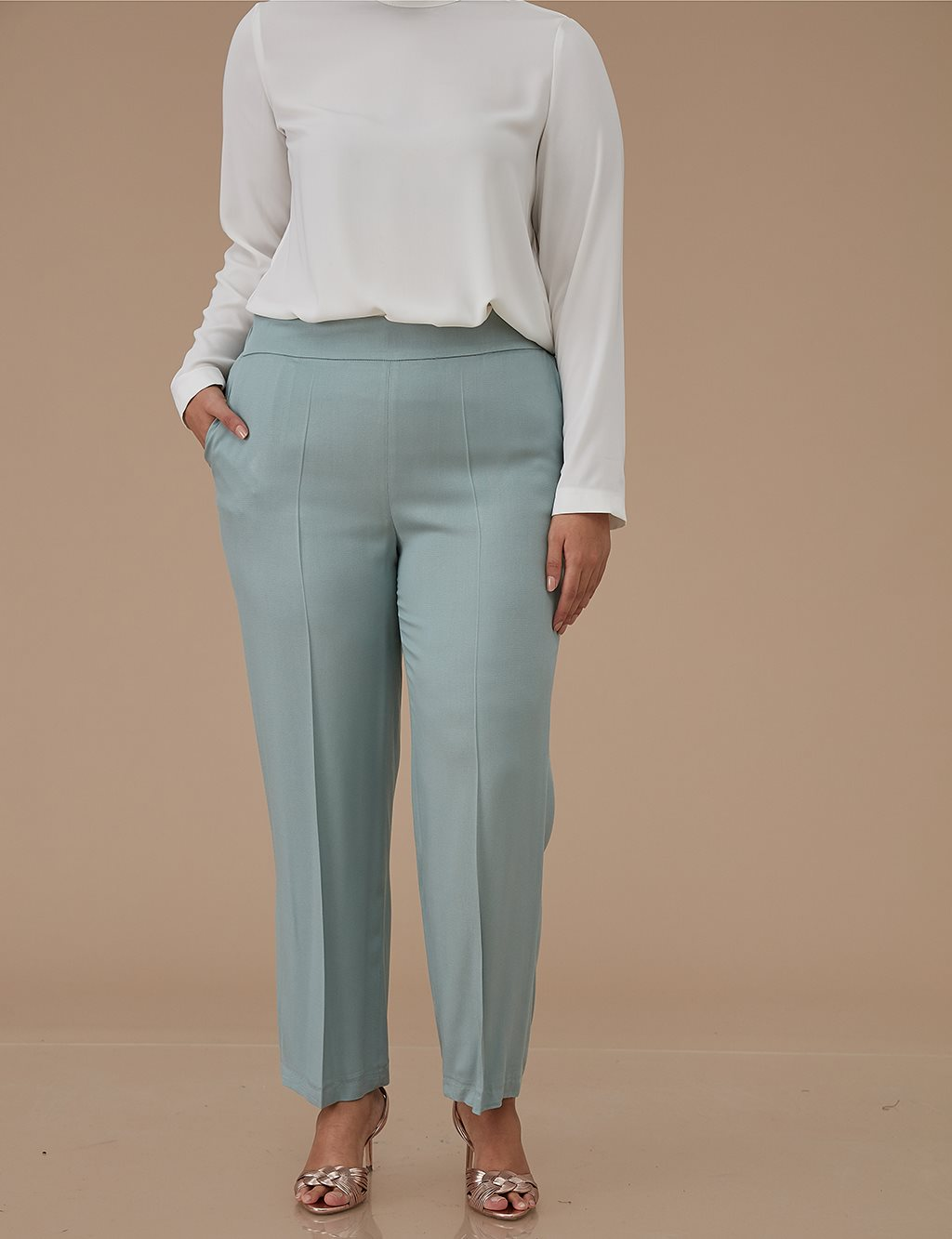 Wide Leg Oversize Pants Mint A9 19084
