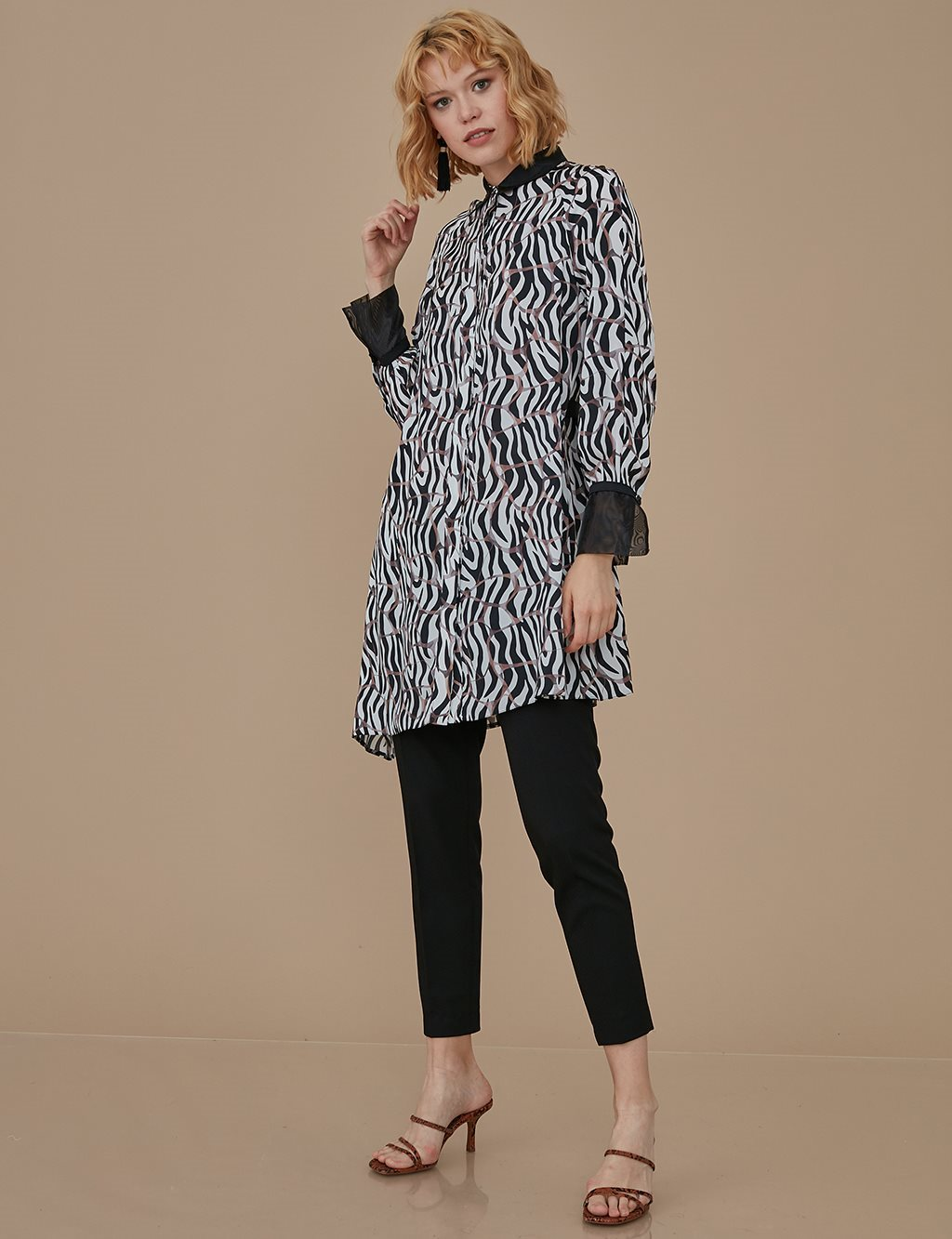 Patterned Tunic A9 21132 Black