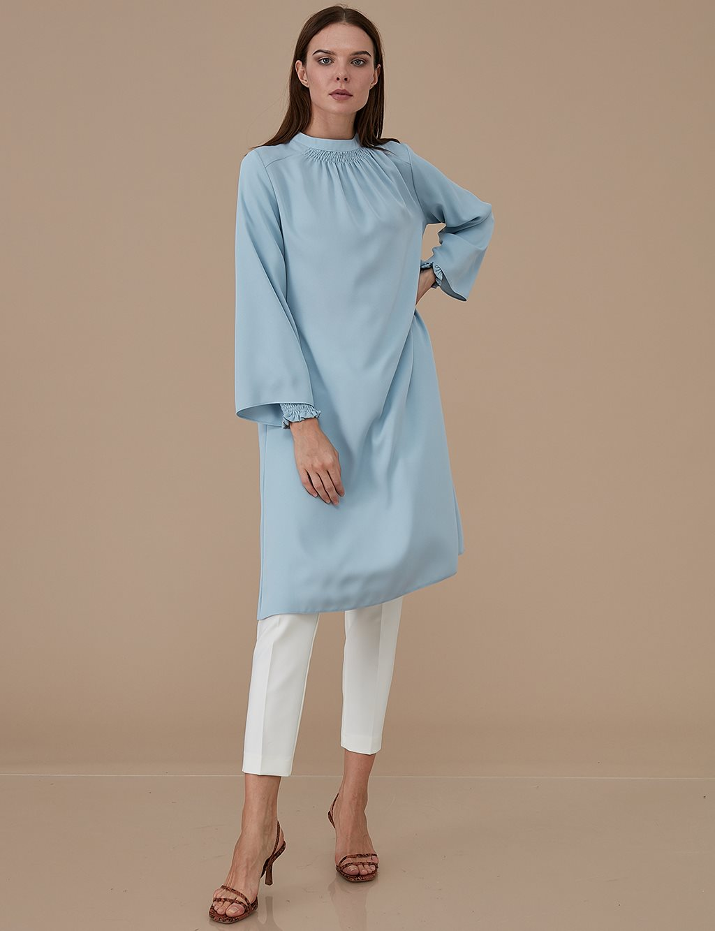 Sleeve Detailed Tunic A9 21190 Blue