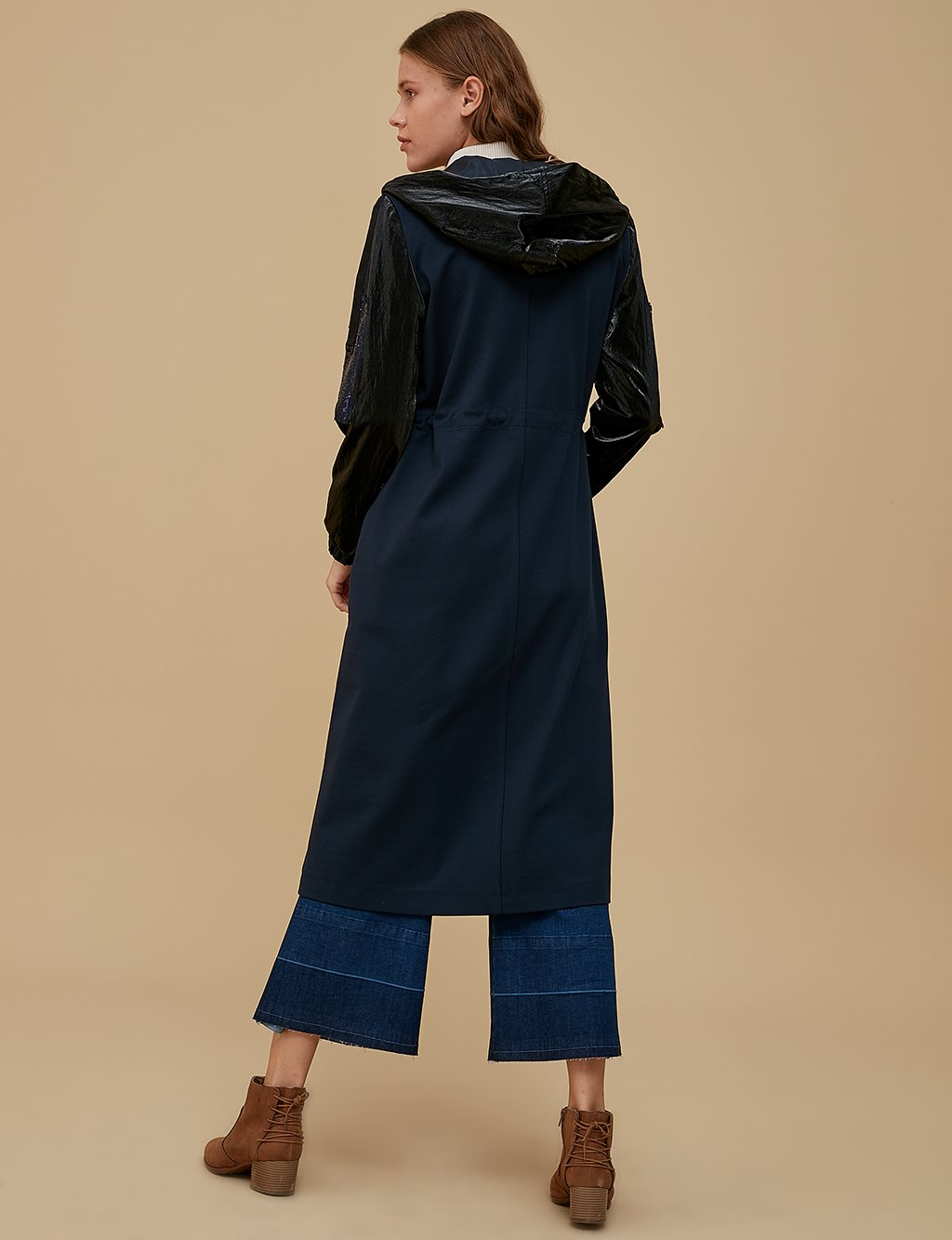 Embroidered Coat A9 14049 Navy