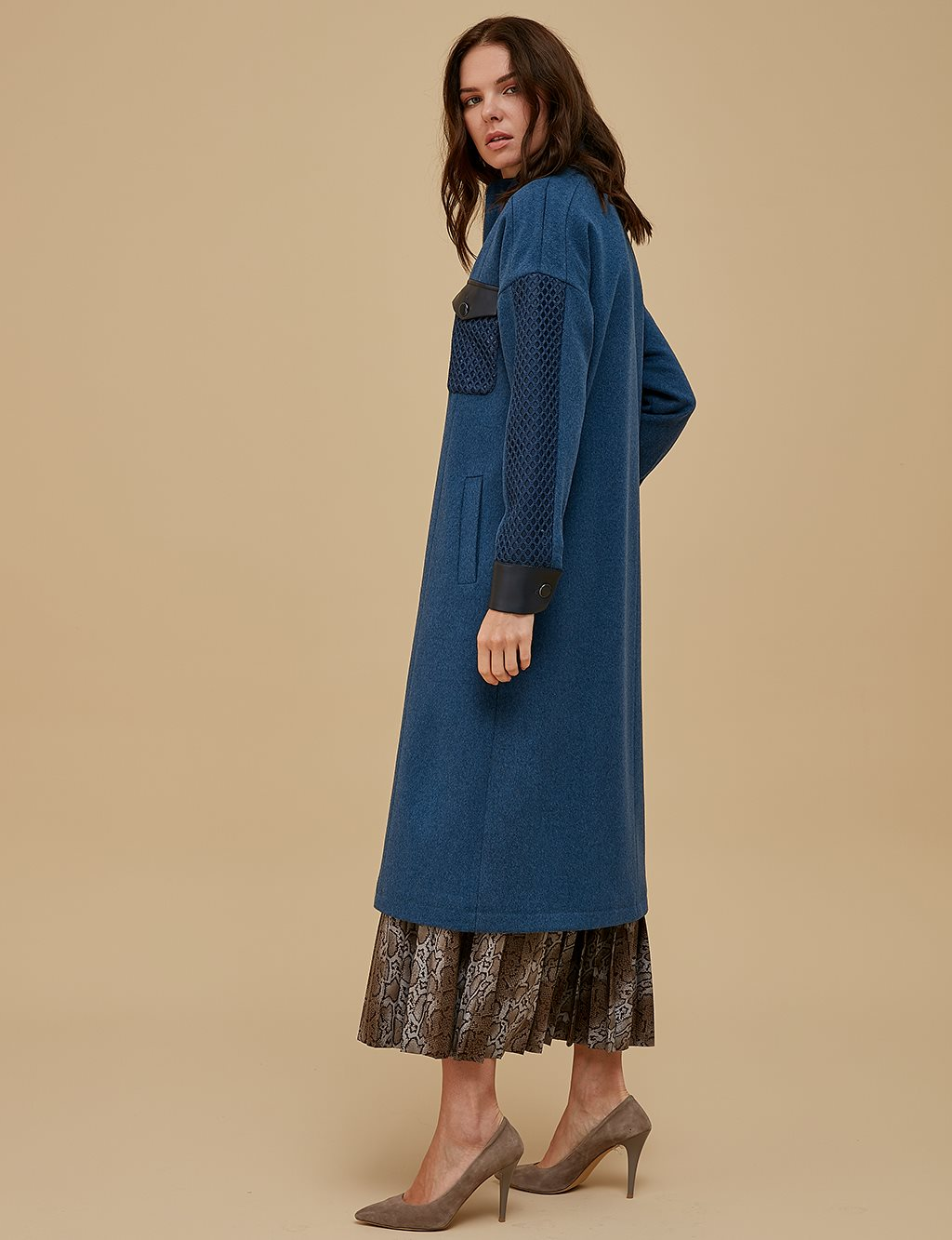 Mesh Pocket Coat A9 17053 Navy
