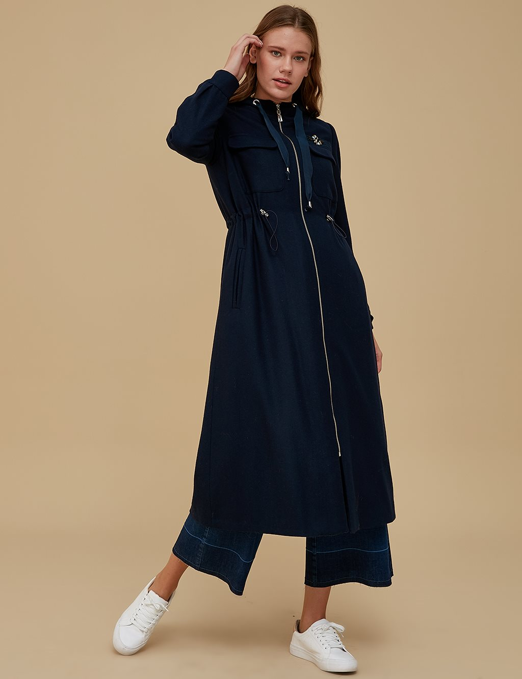 Coat With Vest A9 17083 Navy