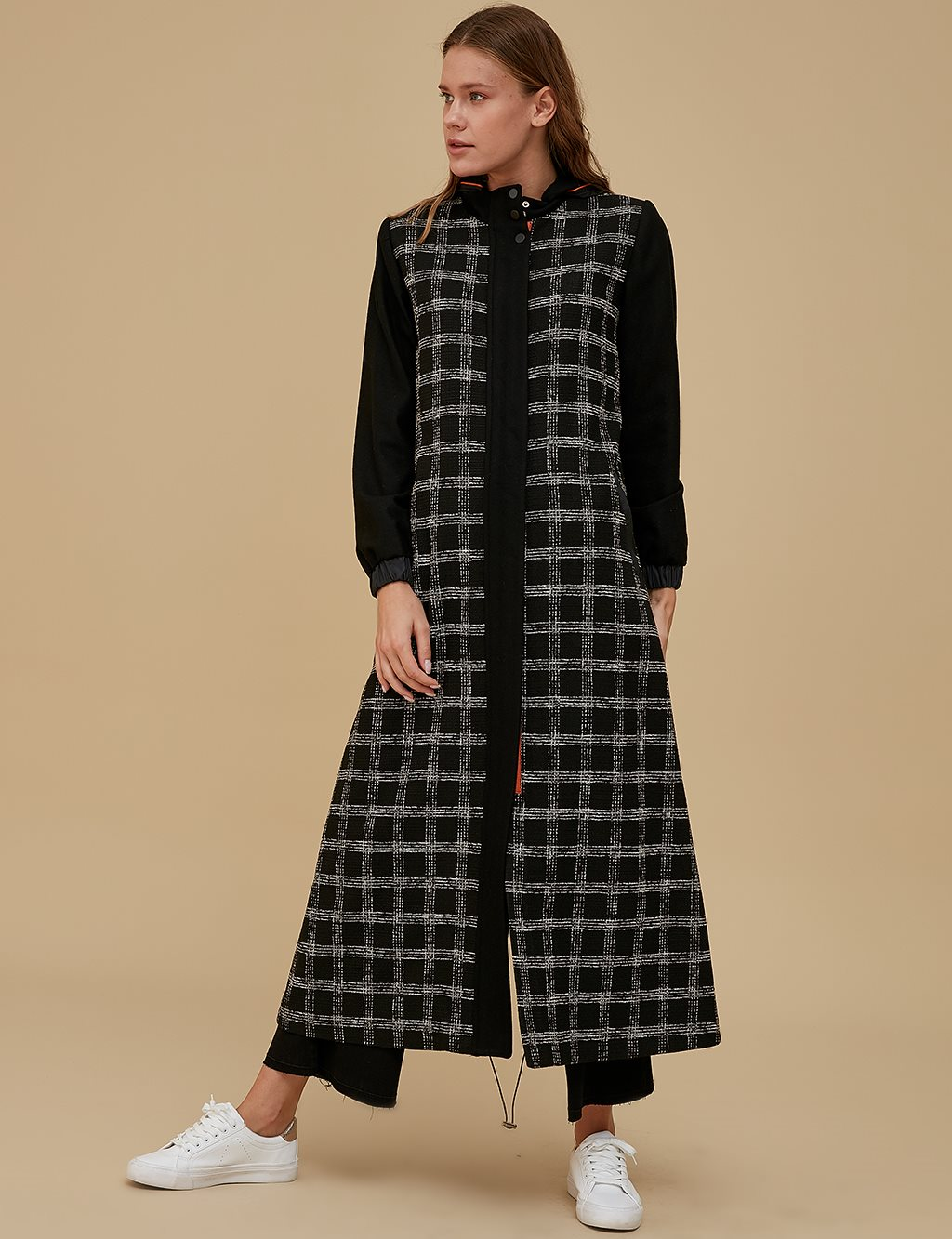 Detailed Coat A9 18007 Black
