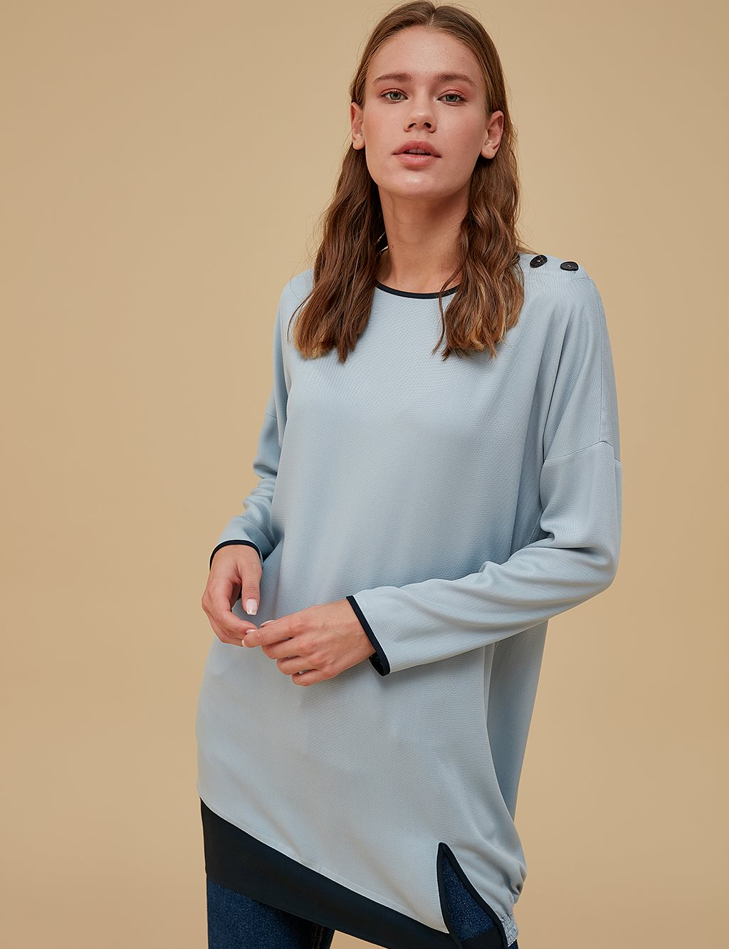 Ruched Tunic A9 21142 Blue