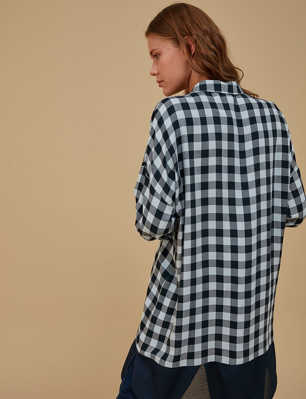 Checkered Oversize Tunic A9 21254 Blue