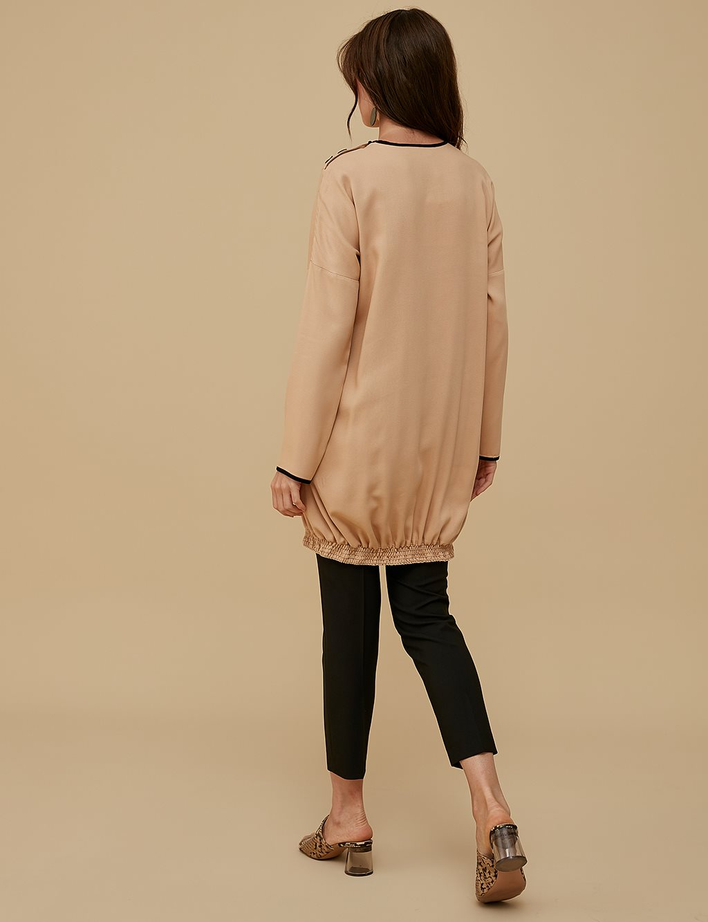 Ruched Tunic A9 21142 Beige