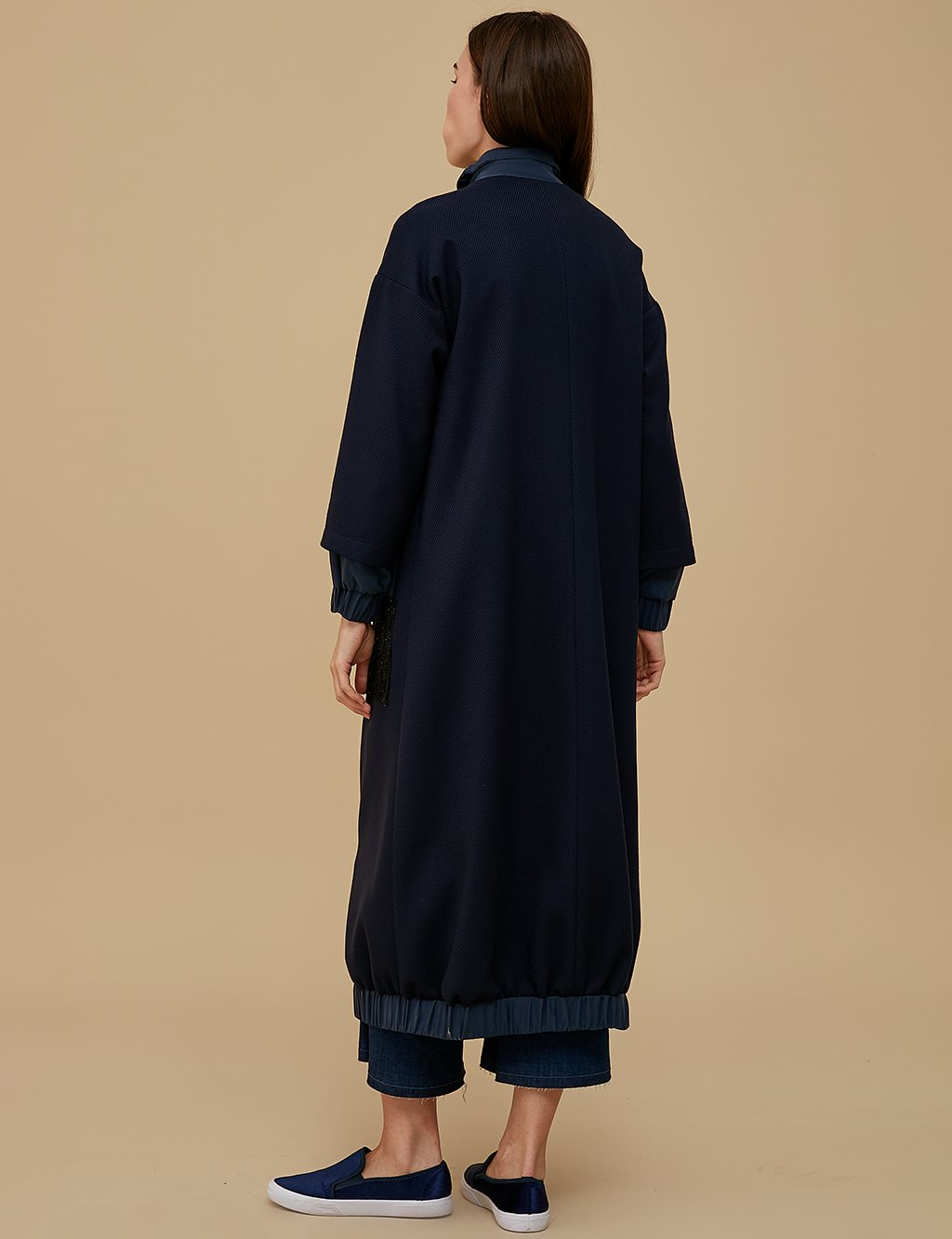 Pocket Detailed Overcoat A9 25044 Navy