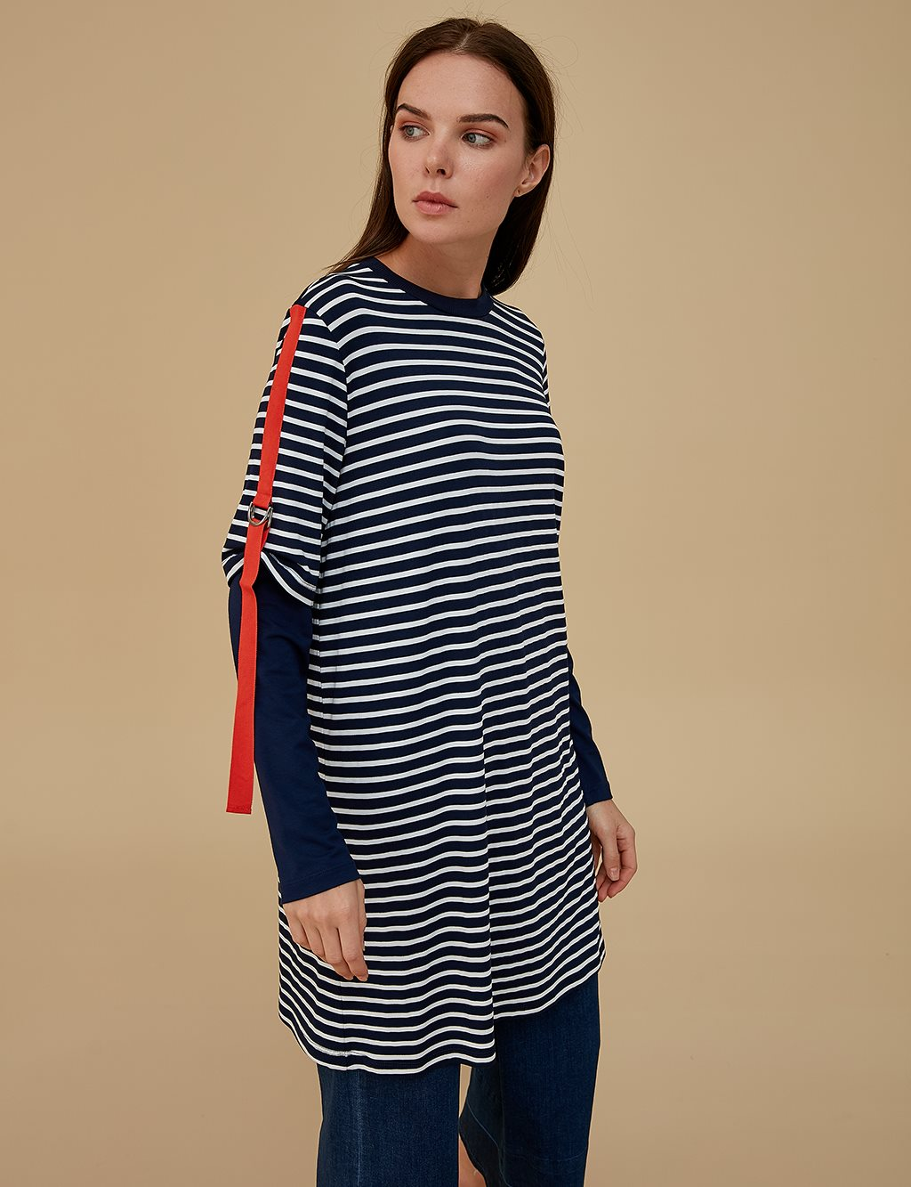 KYR Striped Combed Cotton Tunic A9 81057 Navy