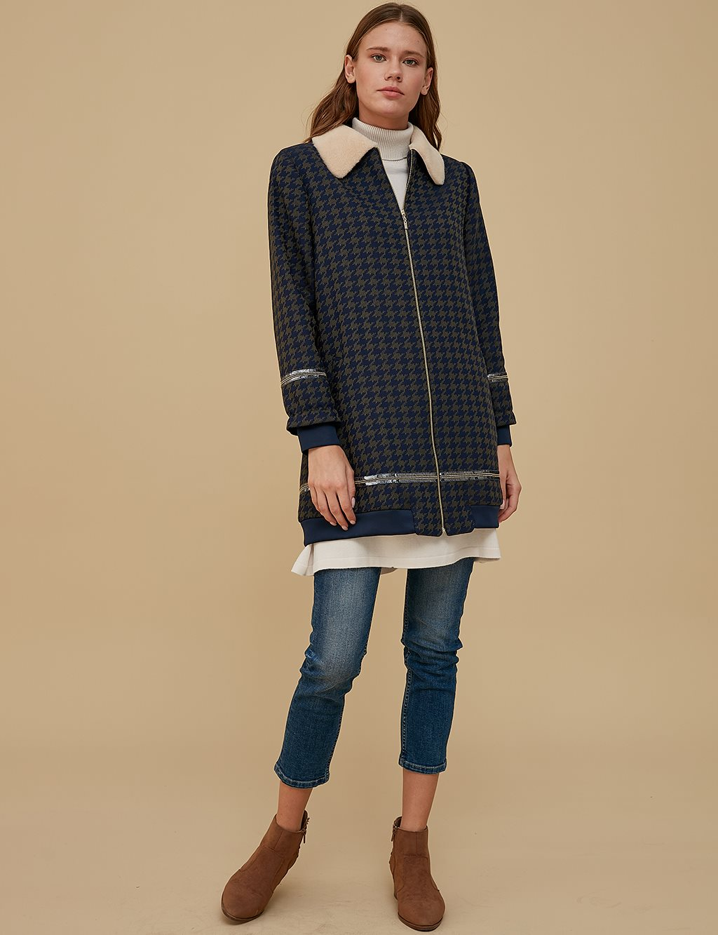 KYR Patterned Jacket A9 73012 Navy