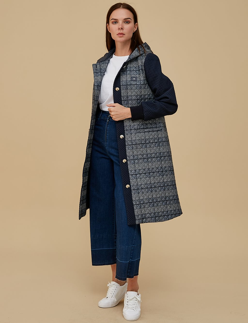 KYR Quilted Coat A9 77001 Navy