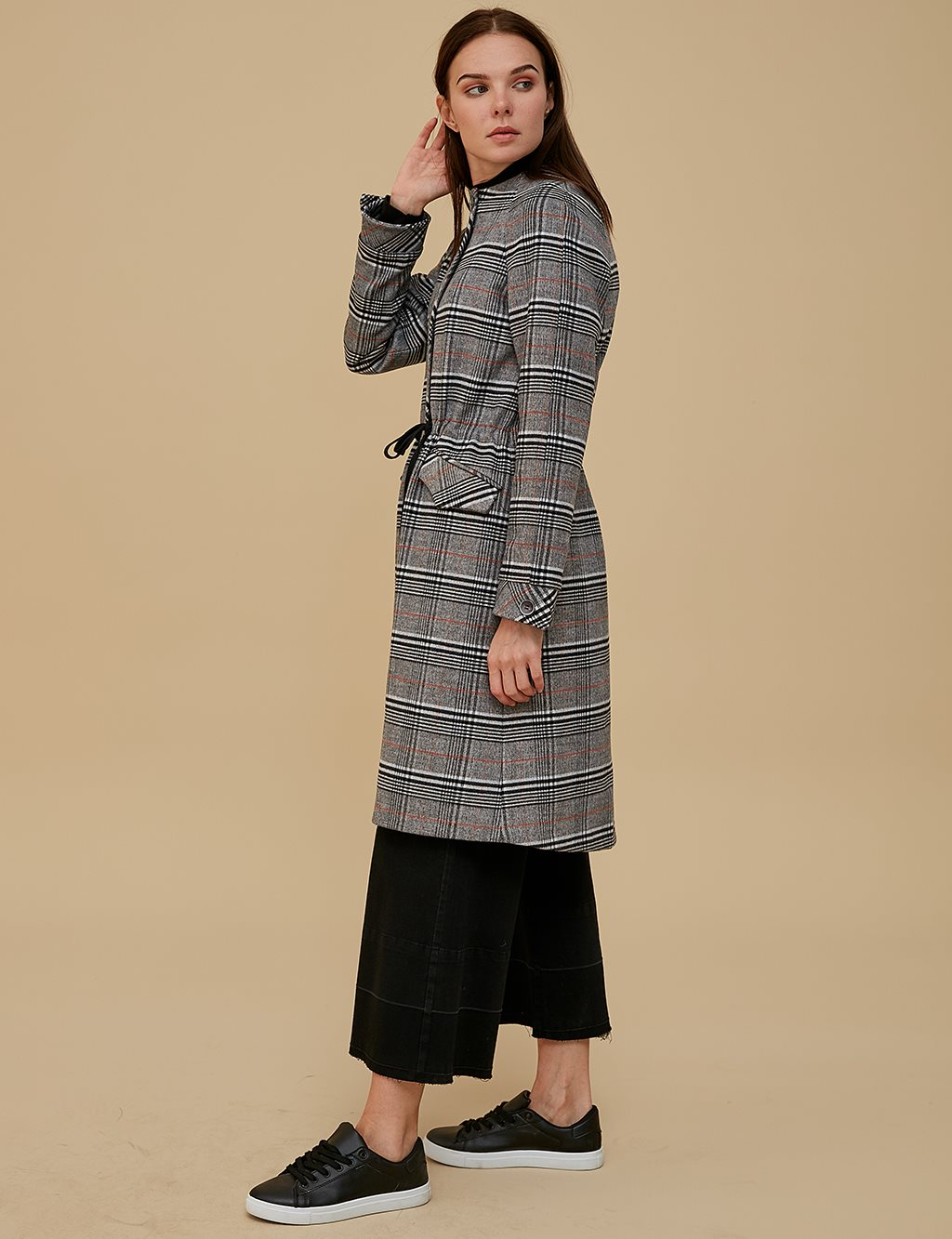 KYR Patterned Coat A9 77008 Grey