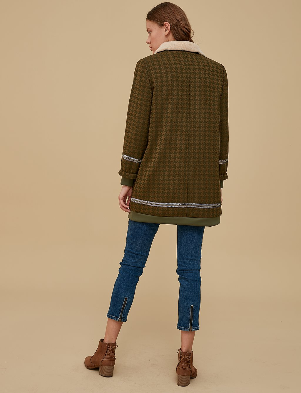 KYR Patterned Jacket A9 73012 Khaki