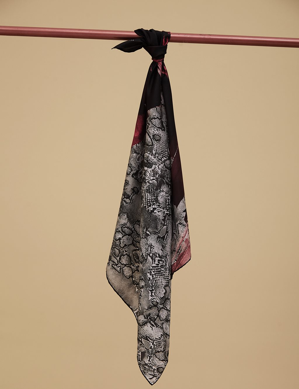 Twill Silk Scarf A9 ESP31 Red