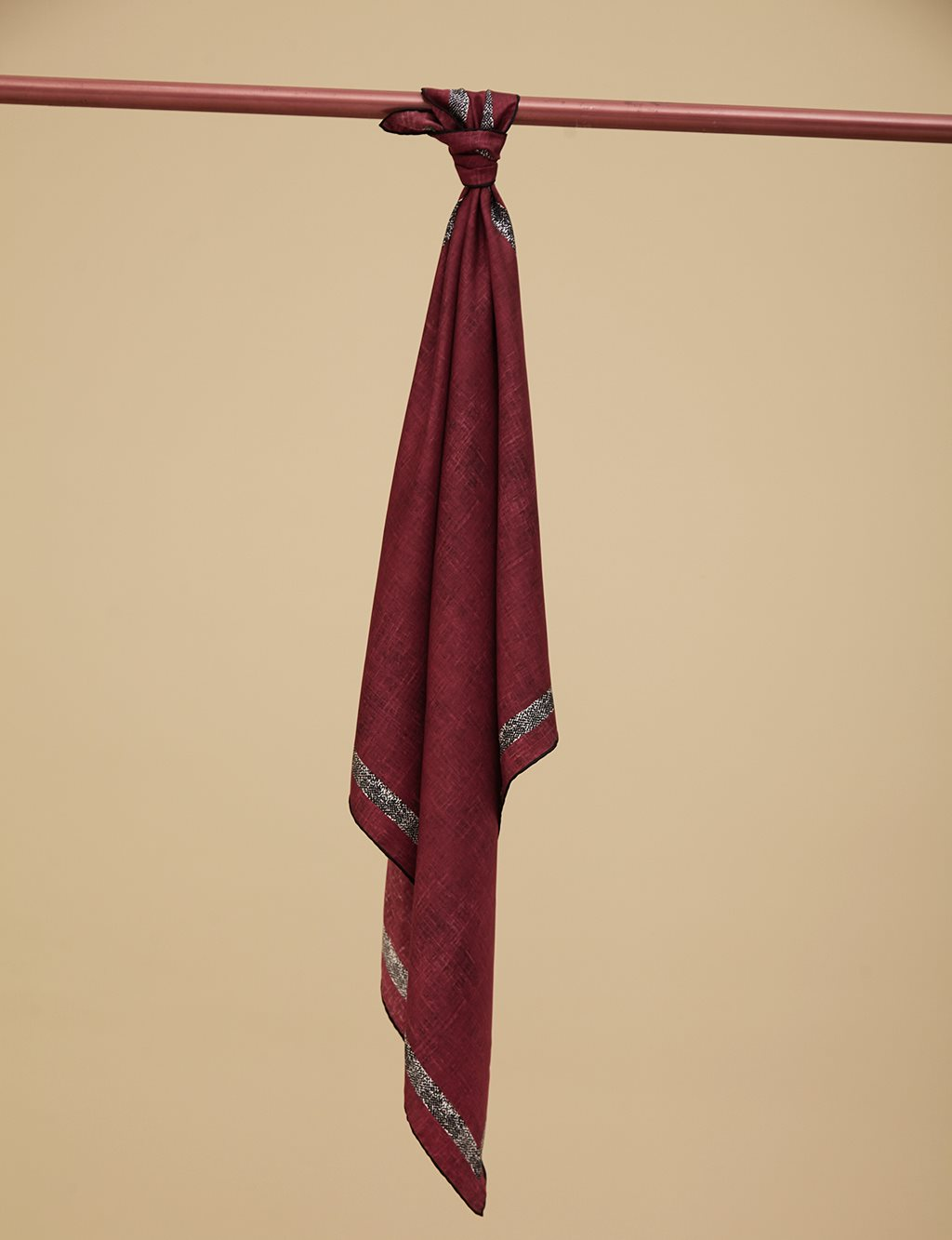 Twill Silk Scarf With Pattern A9 ESP30 Burgundy