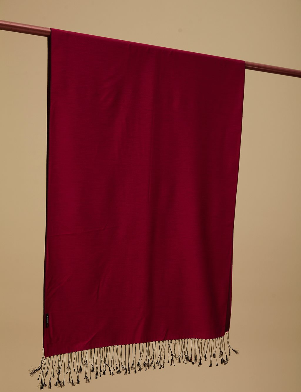 Double Sided Silk Shawl SZ SAL01 Cherry