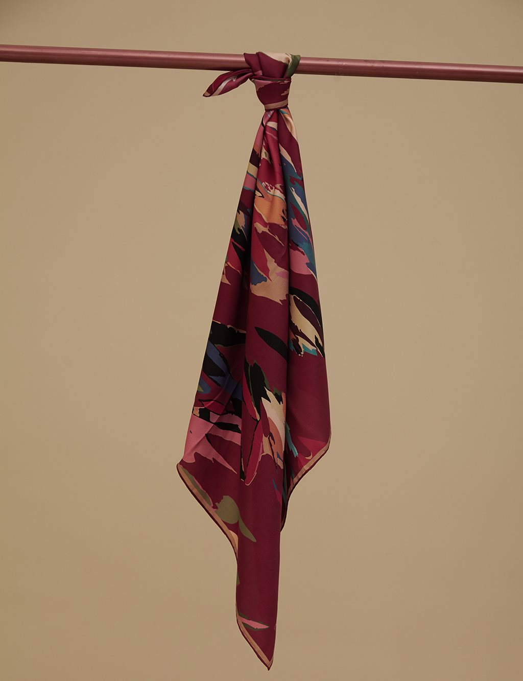 Twill Silk Scarf A9 ESP15 Red
