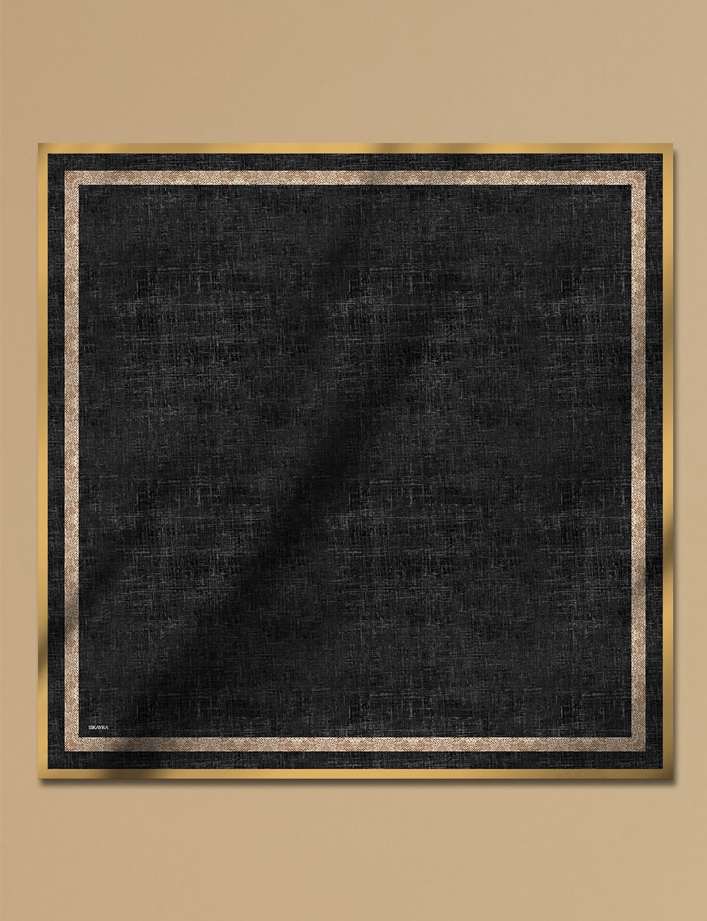 Twill Silk Scarf With Pattern A9 ESP30 Black
