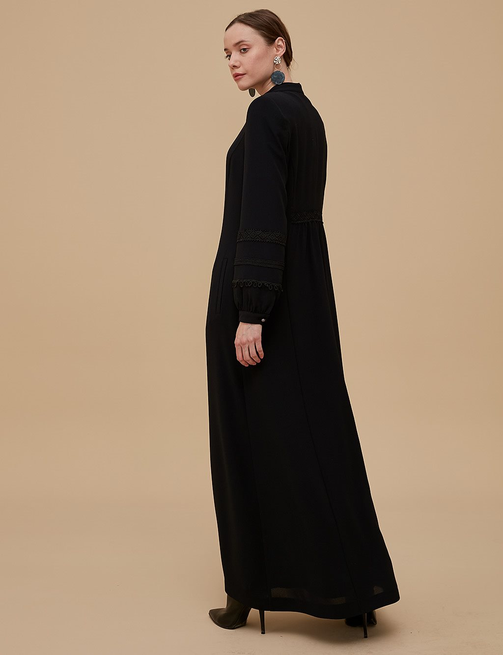 Embroidered Overcoat A9 15024 Black