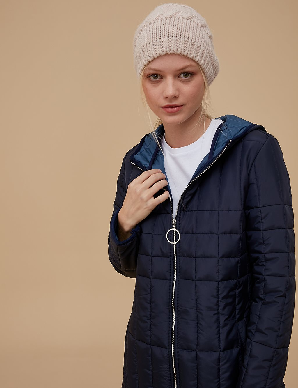 Quilted Anorak A9 27029 Navy