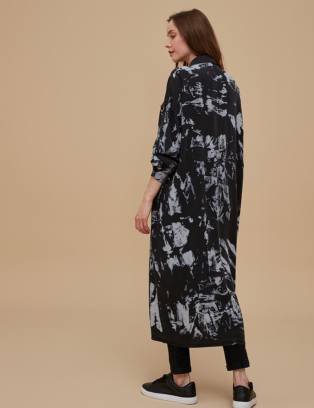 Patterned Maxi Tunic A9 21214 Black