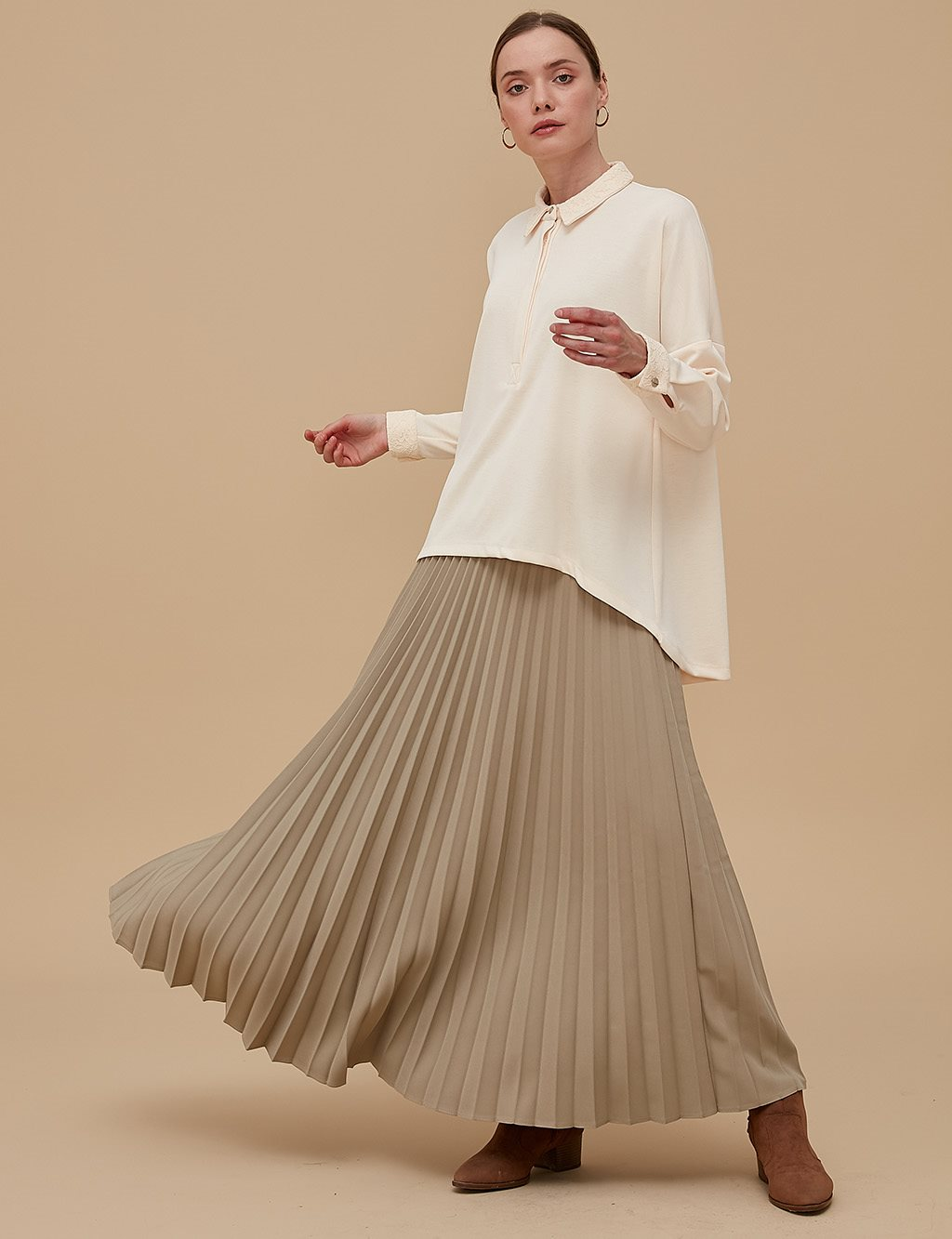 Basic Pleated Skirt SZ 12501 Exuberand