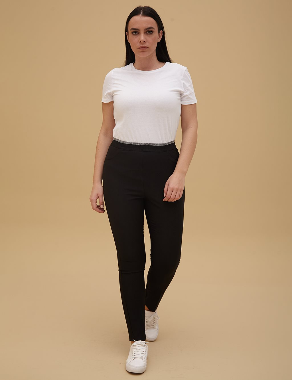 Cigarette Pants Black A9 19088