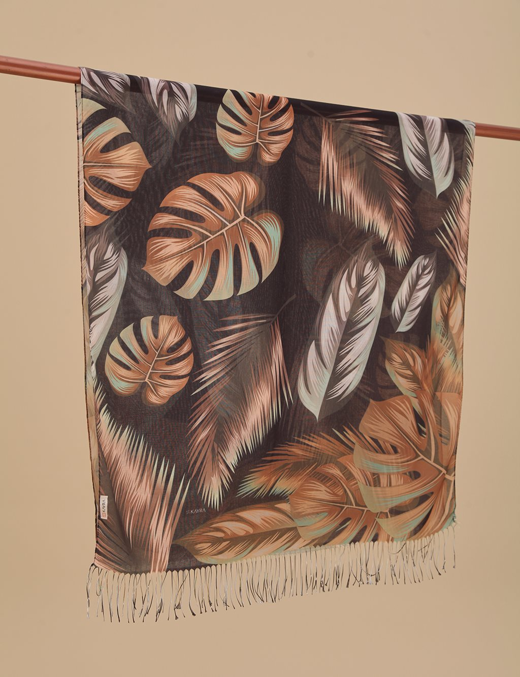 Autumn Patterned Cotton Shawl A9 SAL18 Taba
