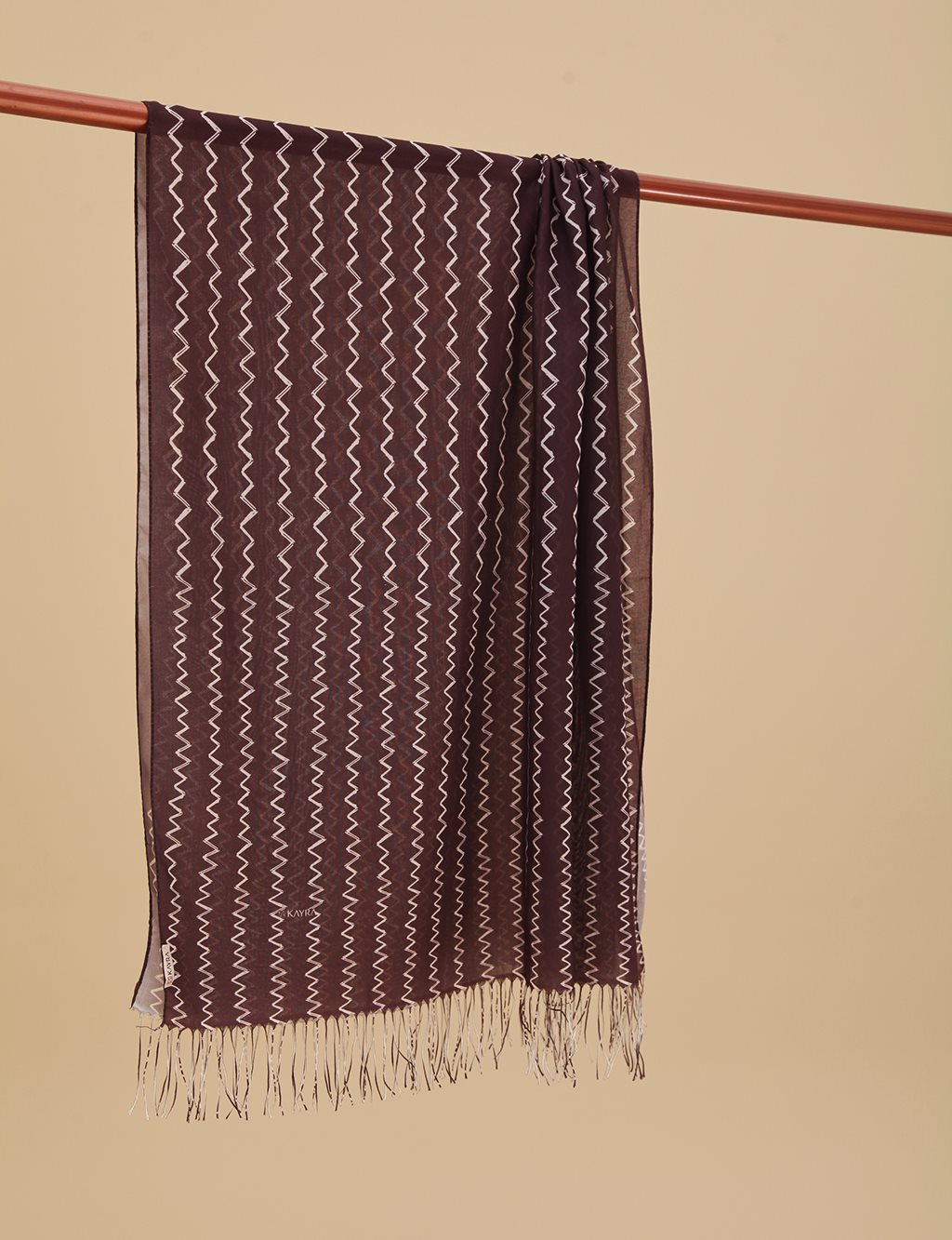 Zigzag Patterned Cotton Shawl A9 SAL15